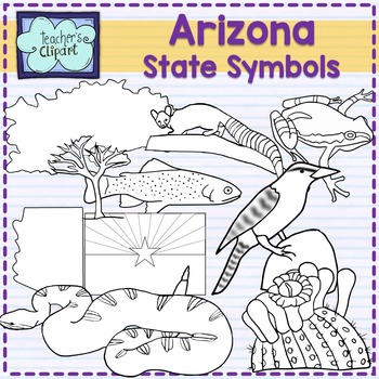 Arizona state symbols clipart