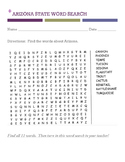 Arizona word search