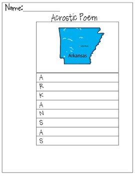 Arkansas Acrostic Poem