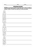 Arkansas Acrostic Worksheet