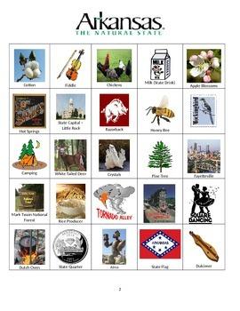 Arkansas Bingo:  State Symbols and Popular Sites
