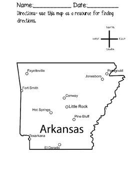Arkansas Cardinal Directions Activity