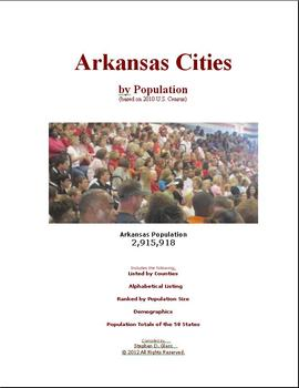 Arkansas Cities by Population