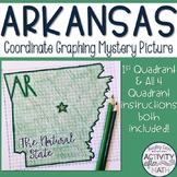 Arkansas Coordinate Graphing Picture 1st Quadrant & ALL 4 Quadrants