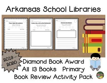 Arkansas Diamond Book Award 2019 - 2020 Book Review Activity Pack