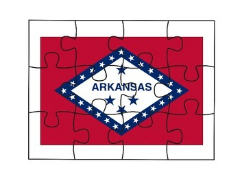 Arkansas Flag Puzzle