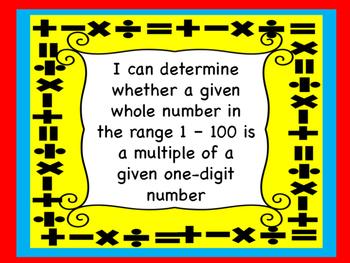 Arkansas Grade 4 Math I Can Statement Posters