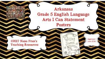 Arkansas Grade 5 ELA I Can Statement Posters