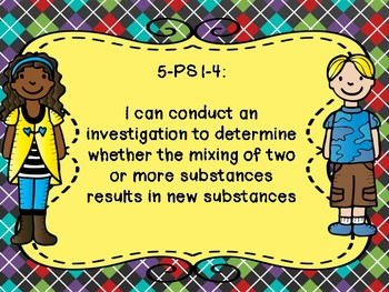 Arkansas Grade 5 Science Standards in I Can Statement Poster Format