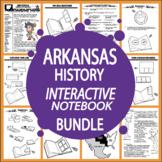 Arkansas History–Interactive Notebook Arkansas State Study Unit + AUDIO!