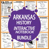 Arkansas History State Study Interactive Notebook Unit + AUDIO