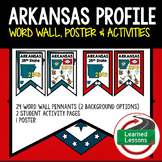 Arkansas History Word Wall, State Profile, Activity Pages
