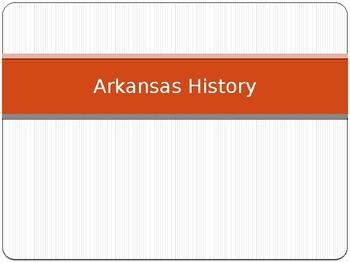 Arkansas Journey Chapter 1 Power Point