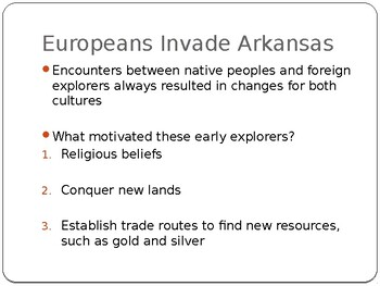 Arkansas Journey Chapter 3 Power Point