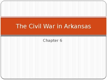 Arkansas Journey Chapter 6 Power Point