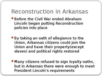 Arkansas Journey Chapter 7 Power Point