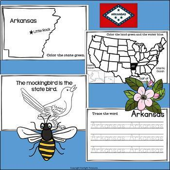 Arkansas Mini Book for Early Readers - A State Study