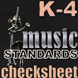 ALL MUSIC CONCEPTS CHECKLIST - Kindergarten through 4th - Elementary Music