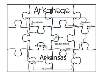 Arkansas Puzzle Map