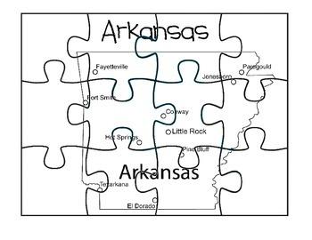 Arkansas Puzzle Map