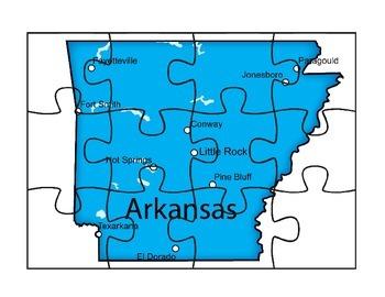 Arkansas Puzzle Map Activity