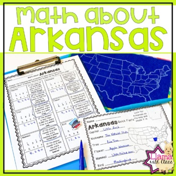 Math About Arkansas State Symbols Through Addition Practice By Llama