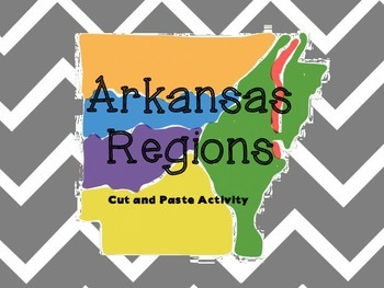 Arkansas Regions cut and paste activity