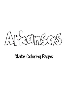 Arkansas State Coloring Pages
