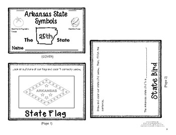 Arkansas State Symbols Flip Book