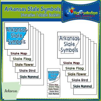 Arkansas State Symbols Interactive Foldable Booklets