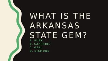 Arkansas State Symbols Powerpoint Game