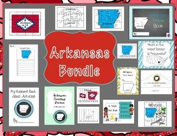 Arkansas Themed Bundle- 15 resources