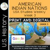 Arkansas USA Studies Weekly Week 3 American Indians