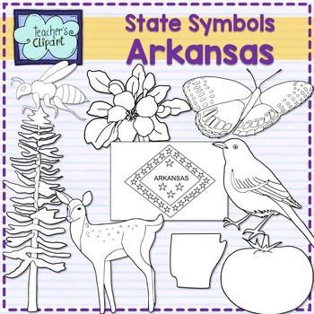 Arkansas state symbols clipart