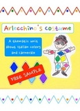 Arlecchino's Costume - A unit about Italian colors and Carnevale - **sample**