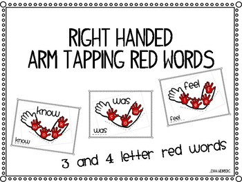 Arm Tapping Red Words