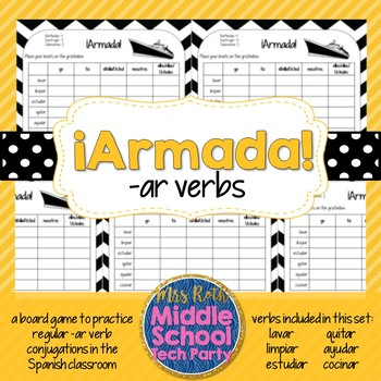 Armada- Battleship style game for practicing regular -ar verb conjugations
