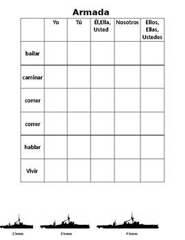 Armada with conjugating verbs