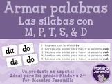 Armar palabras con sílabas - M, P, T, S & D