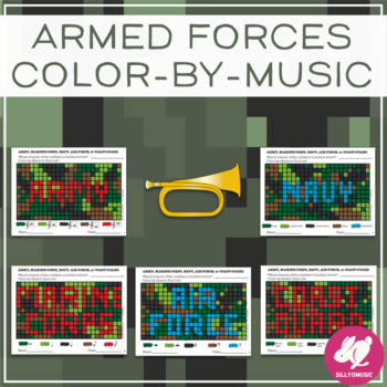 Armed Forces Color-By-Music   Memorial Day   Veterans Day