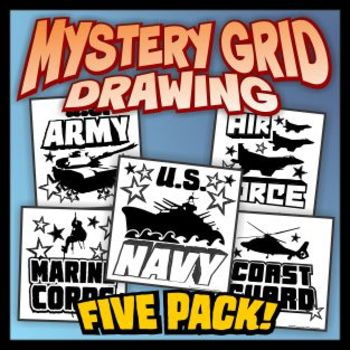 Armed Forces Mystery Grid 5-pack