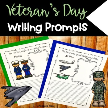 Veteran's Day Armed Forces Writing Prompts     {25 Prompts}