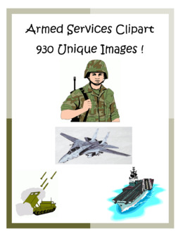 Armed Services Clip Art Pack – 930 unique PNG files