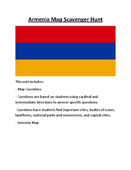 Armenia Map Scavenger Hunt