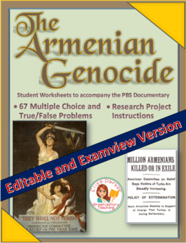 Armenian Genocide  -- 67 Questions in Word AND Examview formats