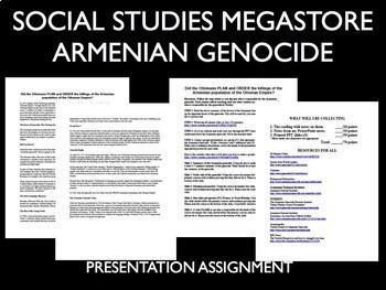Armenian Genocide World War I WWI 1914-1918 Reading Writing Activities Bundle