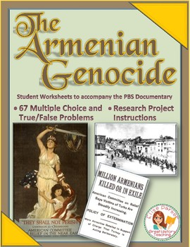 Armenian Genocide Student Viewing Worksheets by Elise Parker | TpT