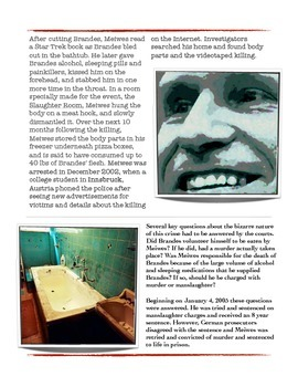 Forensics - Armin Meiwes - The Internet Cannibal