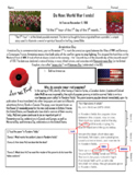 Armistice Day, Casualties or War, and Treaty of Versailles