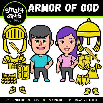 Armor Of God Clip Art By Smart Arts For Kids Teachers Pay Teachers